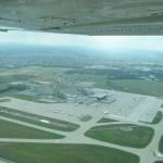 Overhead Budapest airport