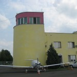 Arad control tower with a very original view on Radio Communication