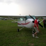 Safely on the ground