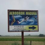 Sibiu Magura entry road sign