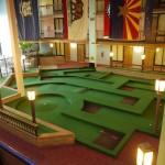 Miniature golf inside the hotel